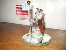 Glass Angel with U.S. Flag in Vacaville, California