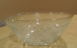 Gold Rimmed Crystal Bowl - NEW in Naperville, Illinois