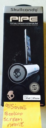 BNIB FACTORY SEALED CHROME SKULLCANDY PIPE SPEAKERS in Fort Bliss, Texas