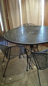patio set, 5pc wrought iron in Oswego, New York