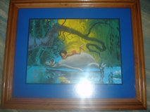 Disney Framed Jungle Book Animation lithograph litho 1997 in Aurora, Illinois