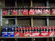 coke pepsi & mountain dew soda bottles in Moody AFB, Georgia