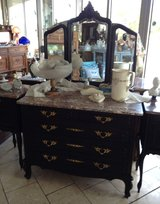 Elegant Louis XV style dresser & three piece mirror in Stuttgart, GE