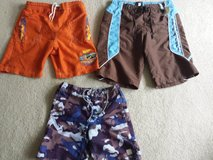 Boys Swim Trunks 2 pr Size 8 1 pr size 4/5 in Aurora, Illinois