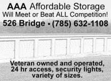 Affordable Storage For Active Duty Personnel With ID Card in Fort Riley, Kansas