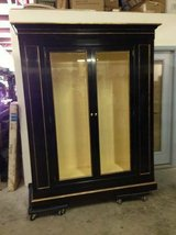 Solid Wood  Black / Gold Trim Display Cabinet - Large and Beautiful!! in Tomball, Texas
