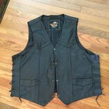 Awesome Mens Leather Bikers Vest size 3XL in Batavia, Illinois