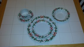 Christmas China- 10 complete settings & extras in Fairfield, California