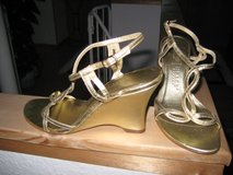 Gold Leather Wedge Sandal in Ramstein, Germany