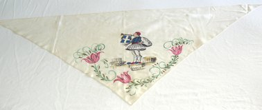 S8 Vintage Hand Painted Greece Triangular Scarf in Ramstein, Germany